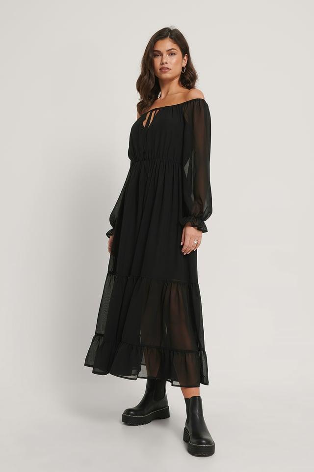Robe Épaules Dénudées Black