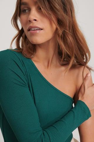 Green Haut Une Épaule