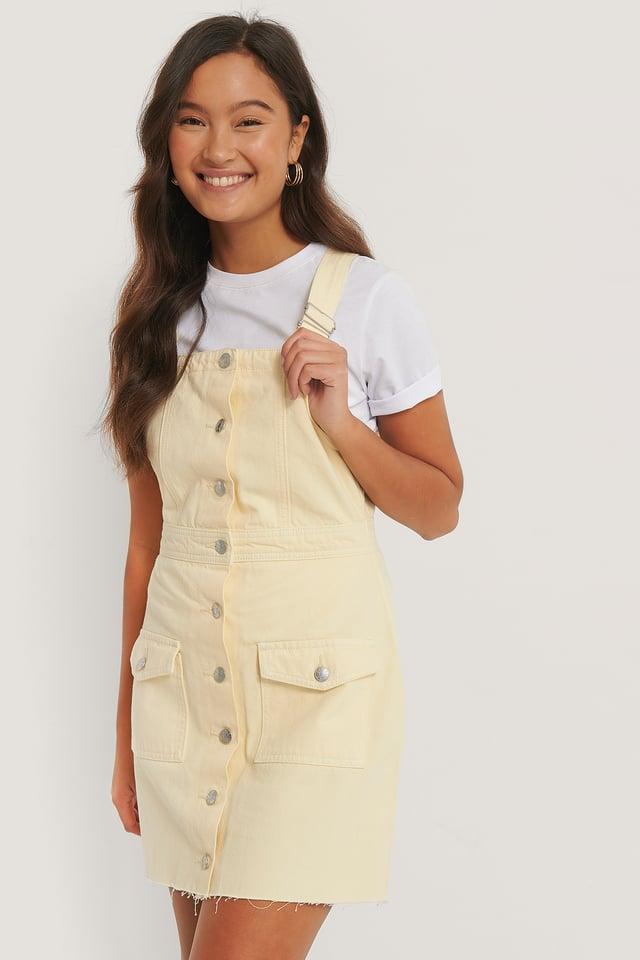 Robe En Jean Colorée En Coton Bio Yellow