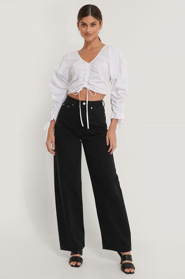 Black Biologiques Jean Large Taille Haute