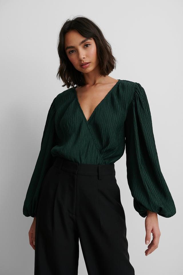 Body Cache-Coeur À Manches Longues Emerald