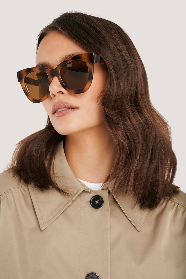 Oversize Chunky Cateye Sunglasses Tortois