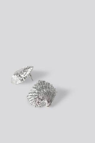 Silver Boucles D'Oreilles Look Marin