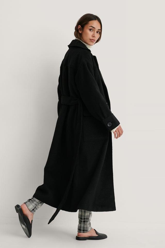 Black Manteau Oversize