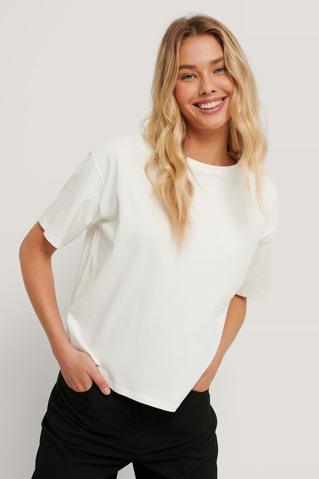White Biologique Tee-shirt Surdimensionné