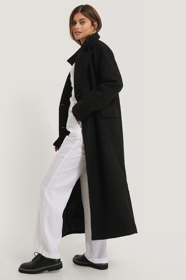 Black Manteau Oversize
