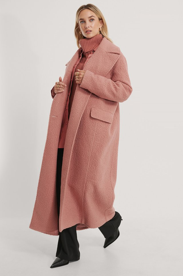 Dusty Pink Manteau Oversize