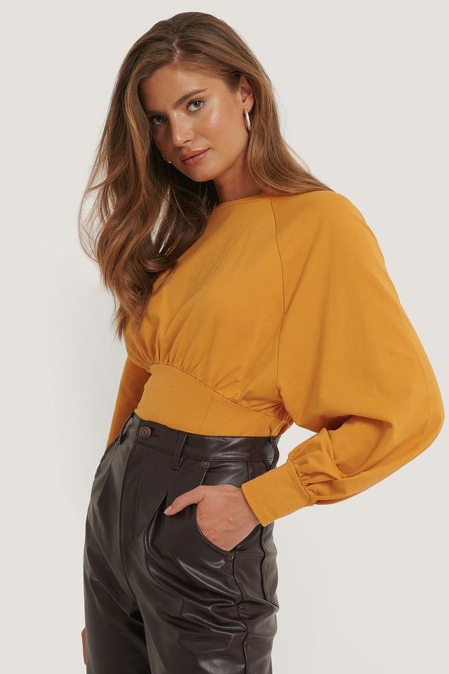 Mustard Oversized Raglan Sleeve Sweater