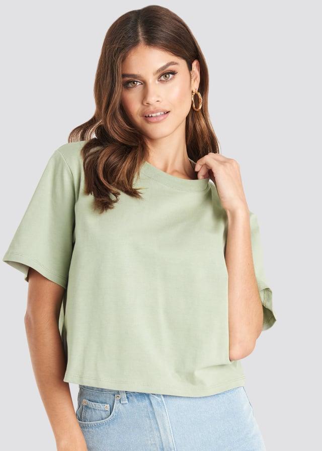 Light Green Tee-Shirt Surdimensionné