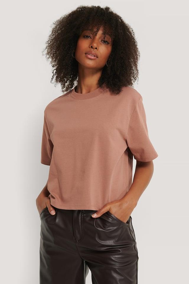 Dusty Dark Pink Tee-Shirt Surdimensionné