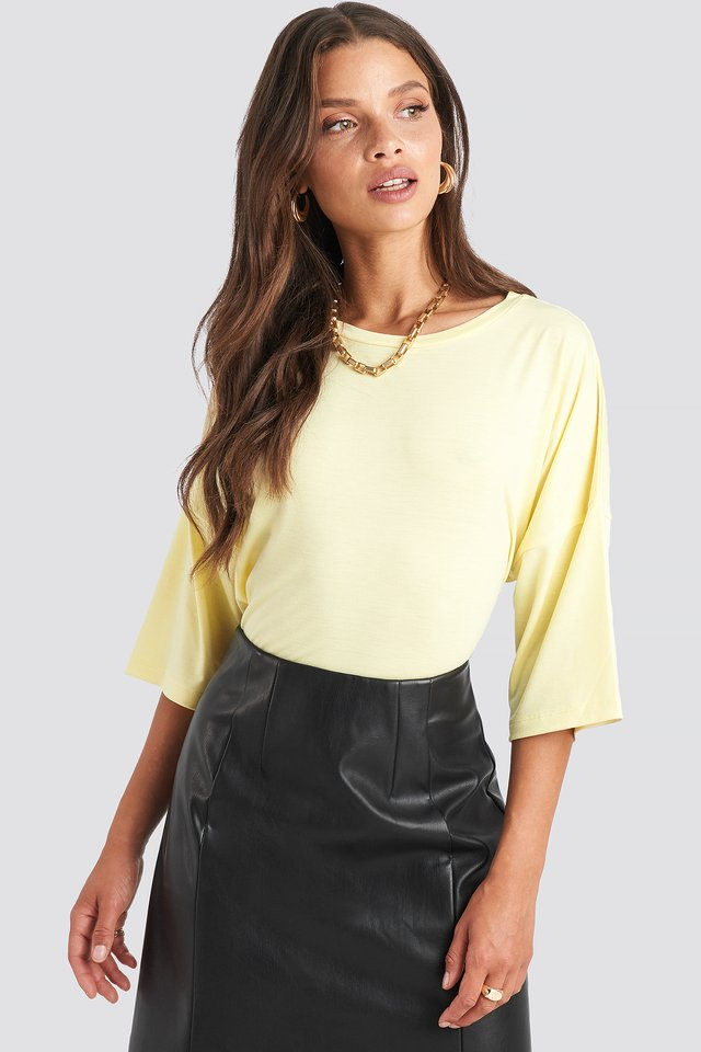 Oversized Tee Light Yellow