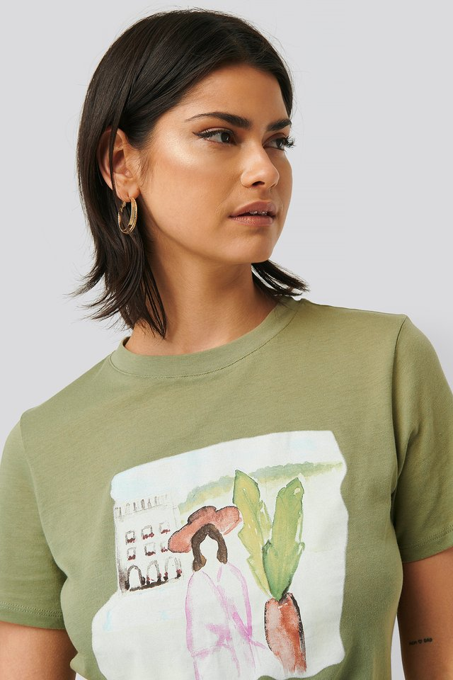 Khaki Green Tee-Shirt