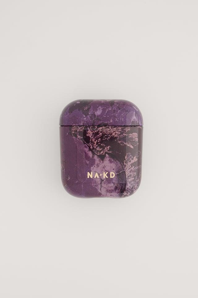 Purple Marble Printed AirPod Case
