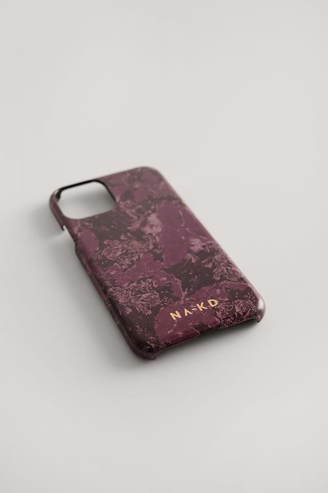 Purple Marble Printed Phone Case