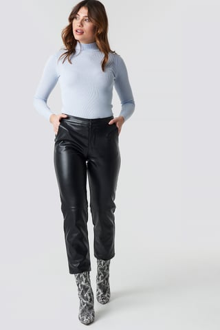 Black PU Pants