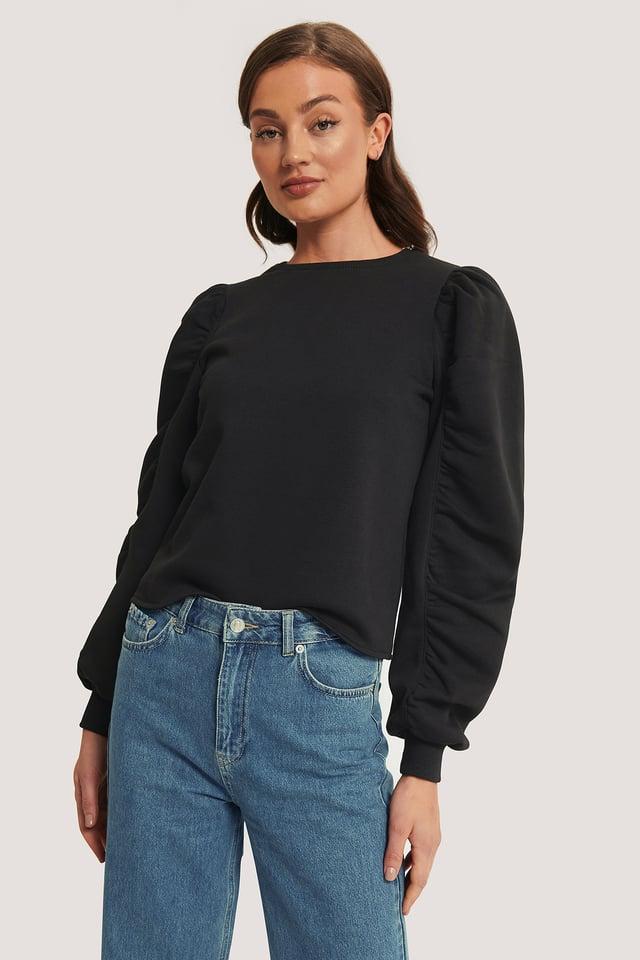 Black Sweatshirt Manches Longues