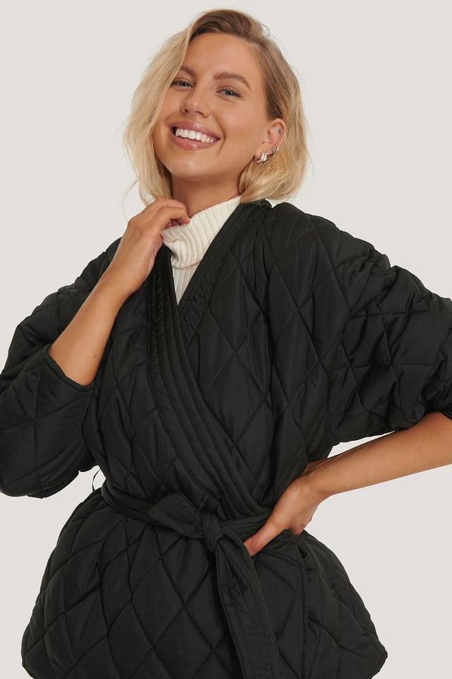 Veste Kimono Matelassée Black
