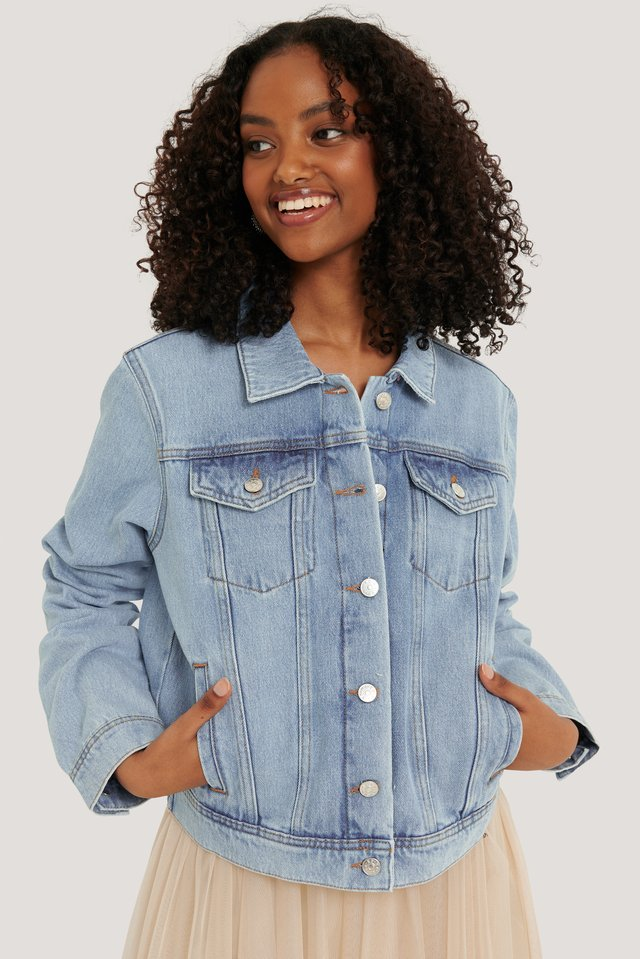 Light Blue Veste En Jean