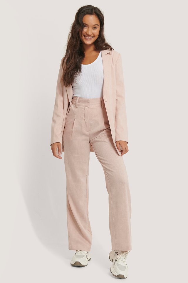Relaxed Suit Trousers Pink