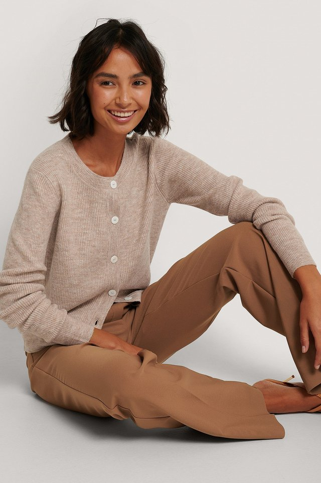 Cardigan Tricot Light Beige