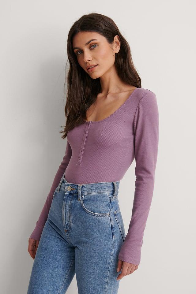 Purple Haut Henley