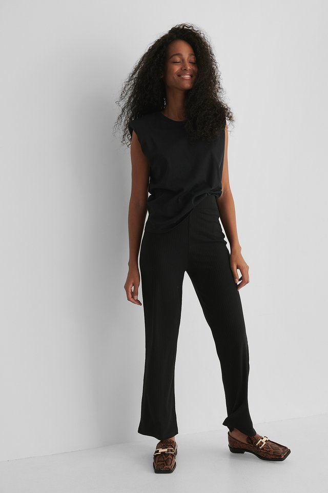 Pantalon Droit Black