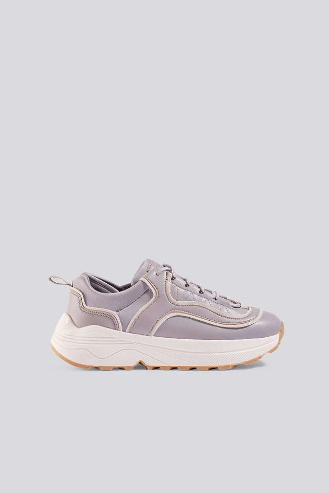Lilac Rounded Chunky Trainers