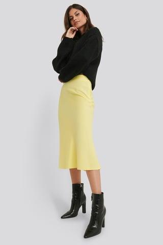 Yellow Satin Skirt