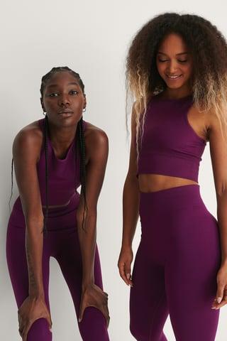 Purple Recyclé Débardeur Sans Couture