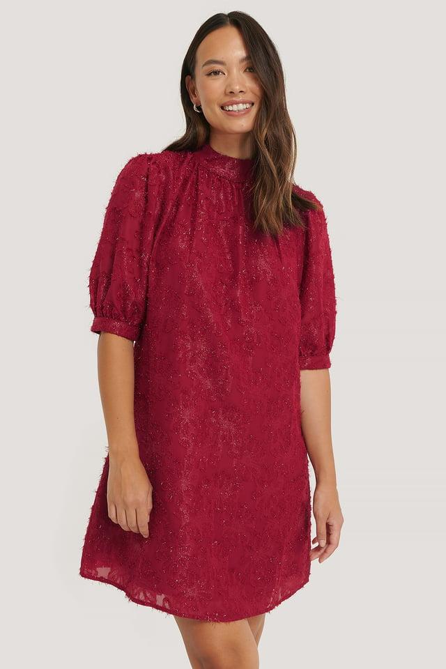 Robe À Fleurs Burgundy