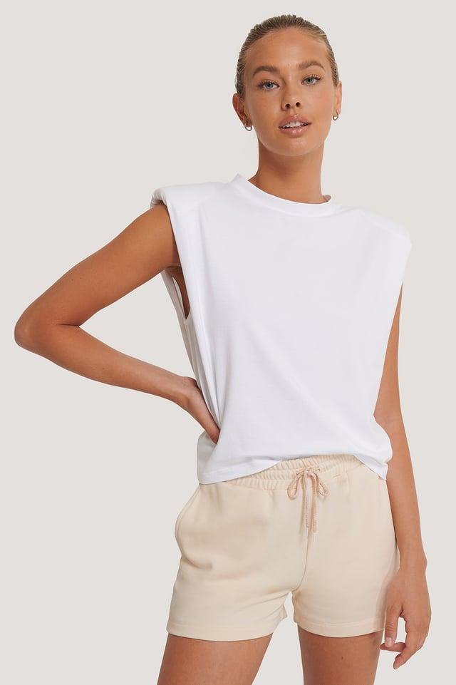 Biologique Haut À Épaulettes White