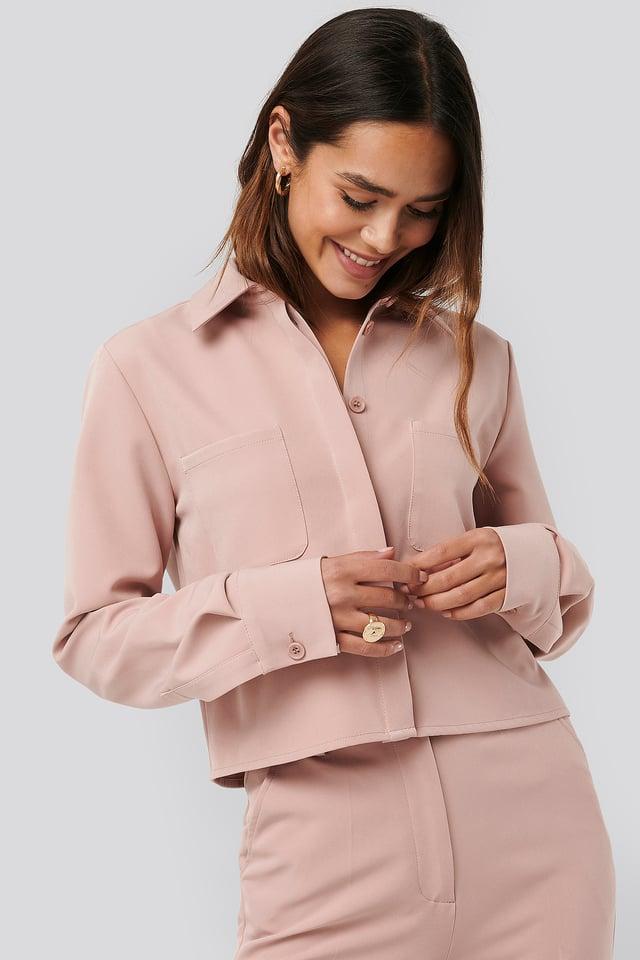 Dusty Pink Short Pocket Shirt
