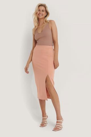 Light Pink Jupe Jersey