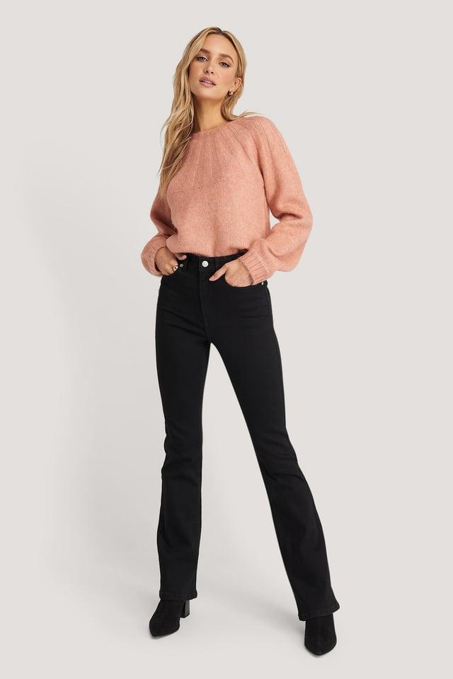 Skinny Bootcut Jeans Black