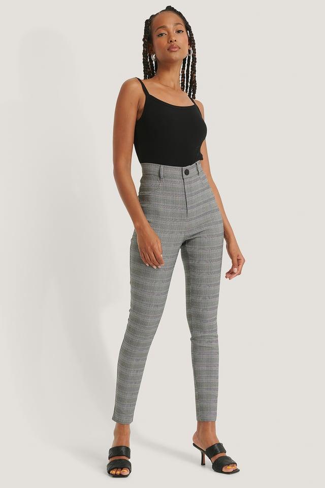 Check Pantalon Slim Fit