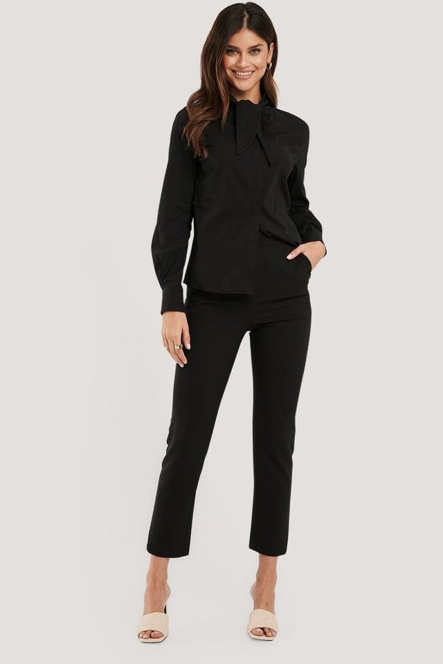 Black Pantalon De Costume Coupe Slim