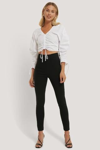 Black Pantalon Slim Super Stretch