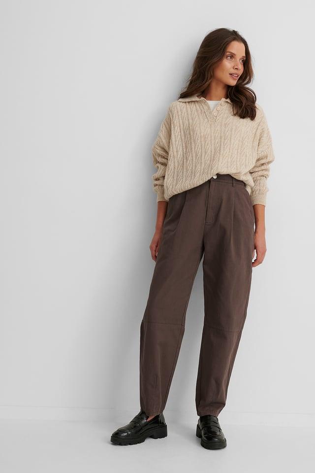 Pantalon Coton Dark Brown