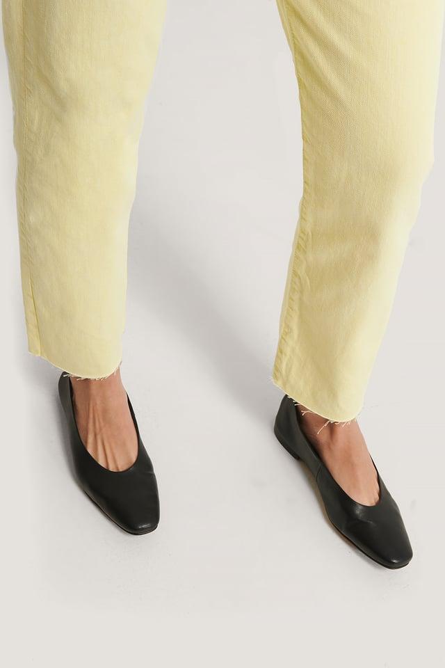 Soft Leather Ballerinas Black