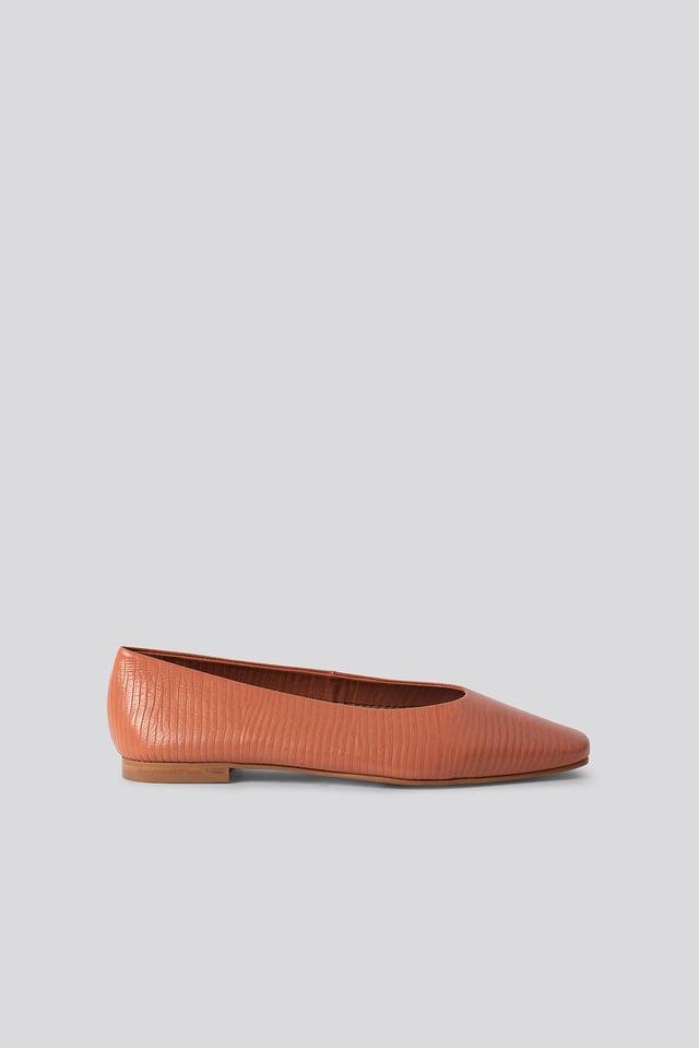 Soft Leather Ballerinas Peach