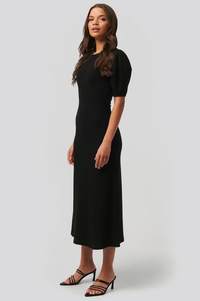 Robe Mi-Longue Black