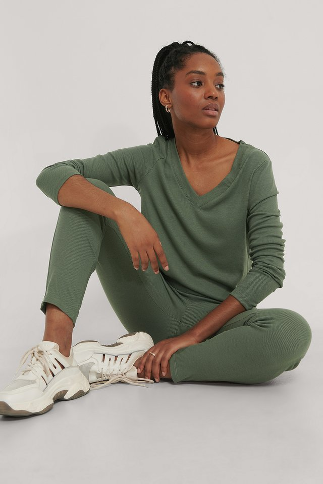 Top Manches Longues Dark Green