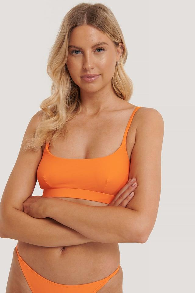Orange Flamingo Haut De Bikini