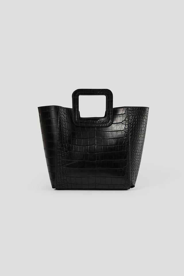 Black Squared Handle Shopper