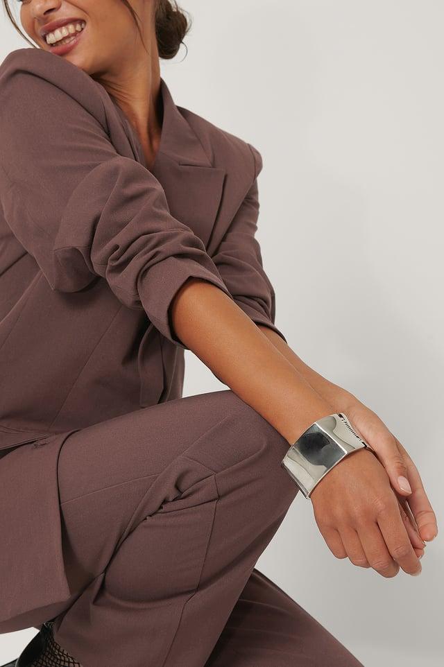 Bracelet Manchette Carré Silver