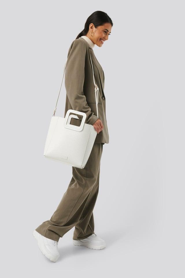 White Squared Handle Shopper