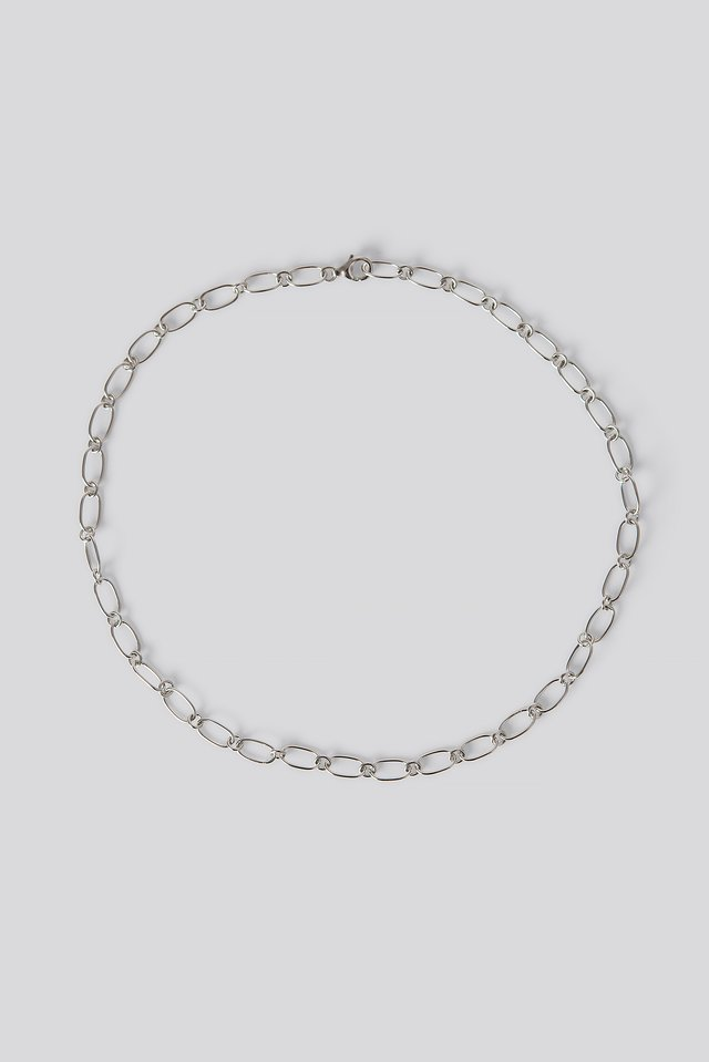 Sterling Silver Thin Chain Necklace Silver