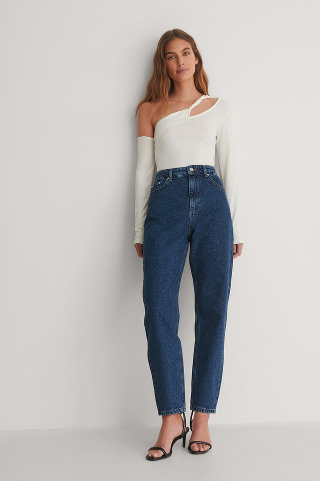 Blue Stone Wash Jean Mom