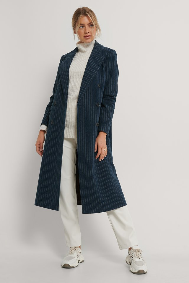 Manteau Long Blue