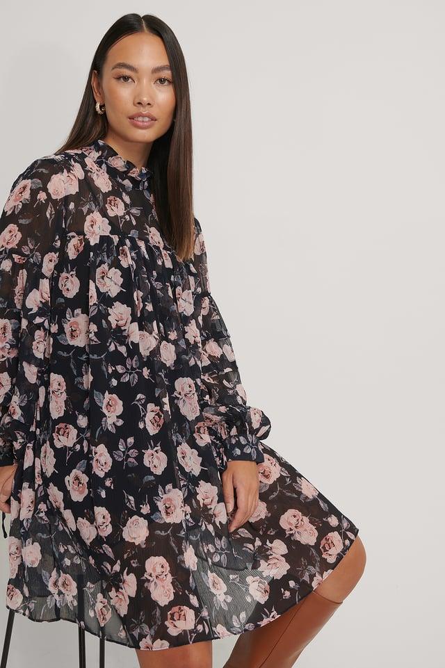 Robe Structurée Imprimée À Fleurs Navy Wallpaper Roses